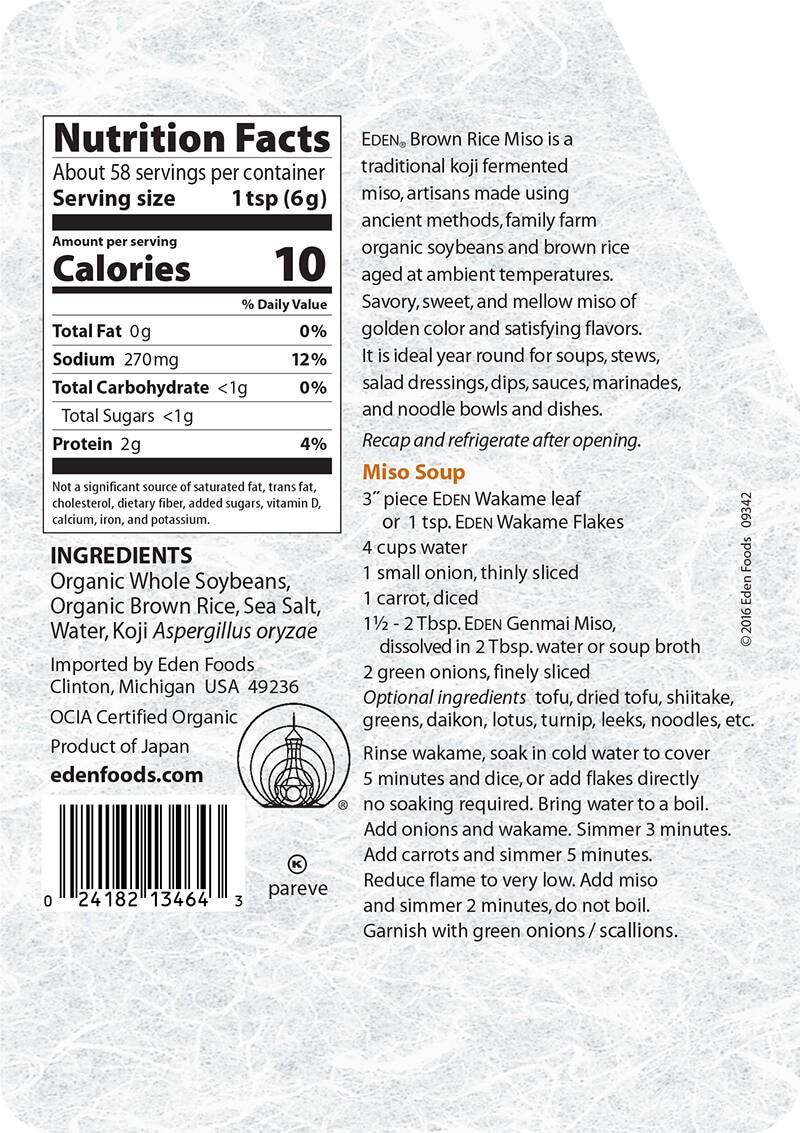 Soup miso genmai organic Eden 345g