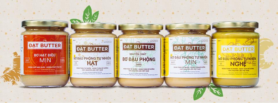 Bơ đậu phộng nghệ tự nhiên ĐạtButter 500g