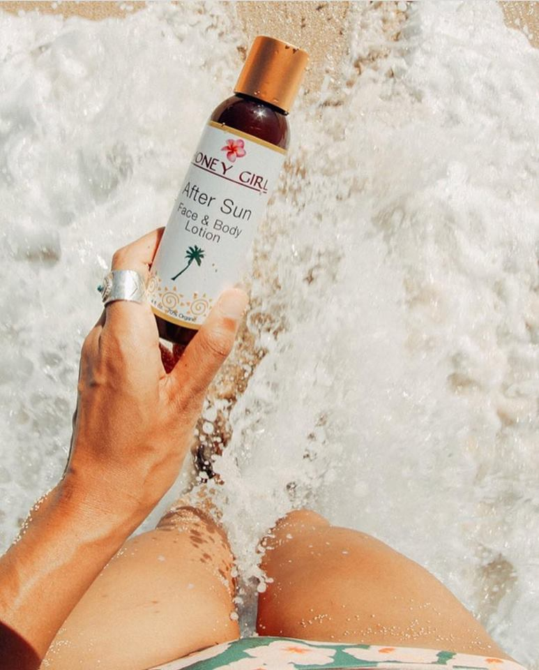 Kem dưỡng phục hồi da cháy nắng lotion Honey Girl Organics 118ml