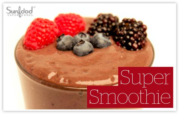 Bột protein gạo lứt chocolate raw organic Sunfood 500g