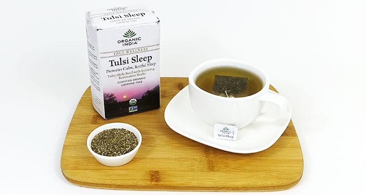 Trà hương nhu tulsi sleep ngủ ngon organic India 25 gói