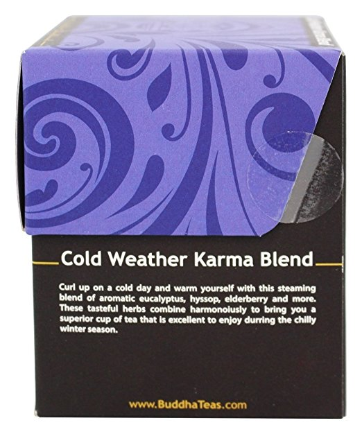 Trà làm ấm Cold Weather organic Buddha Tea 18g/ 18 gói