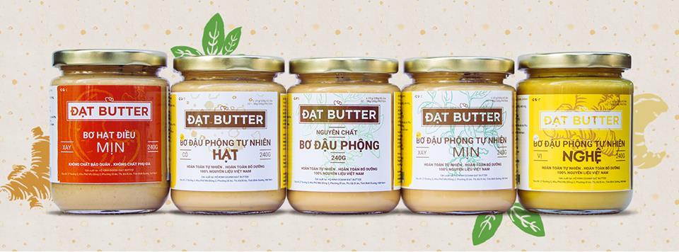 Bơ đậu phộng nguyên chất 100% Đạt Butter 500g