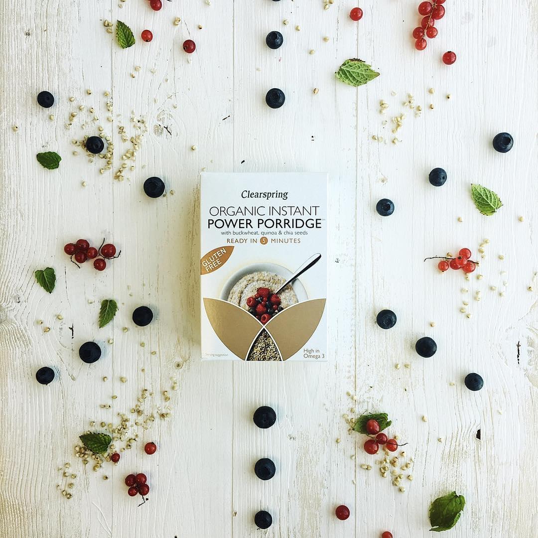 Cháo yến mạch mè & kỷ tử ăn liền gluten free organic Clearspring 160g