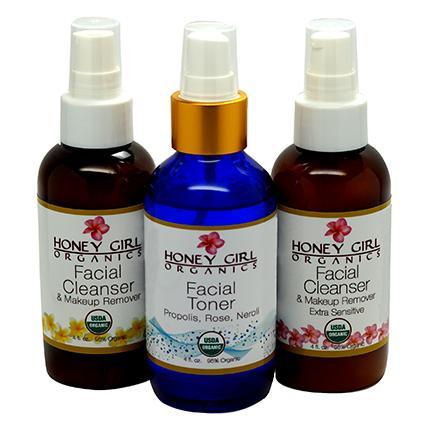 Nước hoa hồng facial toner organic Honey Girl 118ml