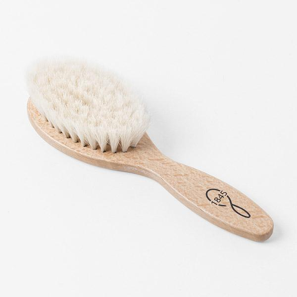 Baby hairbrush goat bristles red beech wood 1845