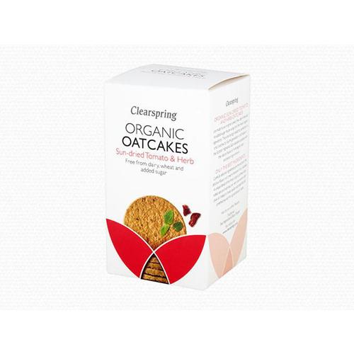 Bánh yến mạch vị cà chua thảo mộc organic Clearspring 200g