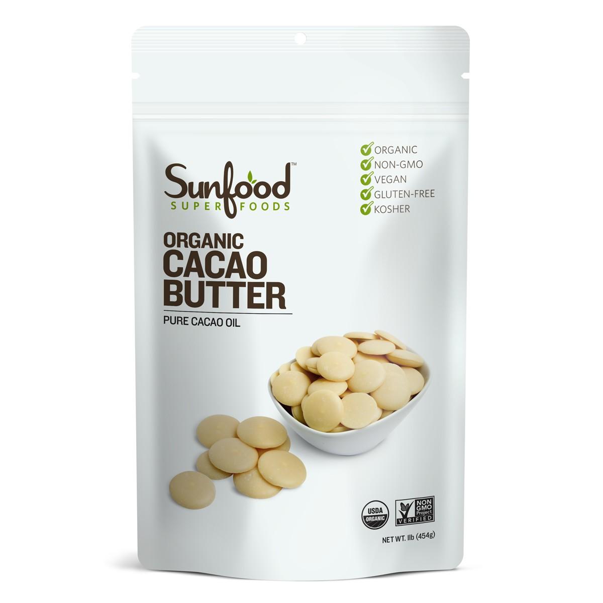 Bơ cacao raw organic Sunfood 454g
