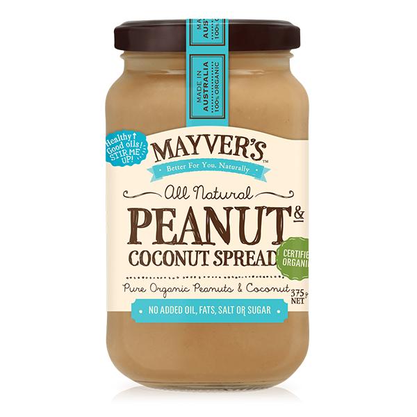 Bơ đậu phộng dừa organic Mayver 375g