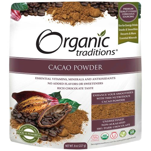 Bột cacao organic OrganicTraditions 227g