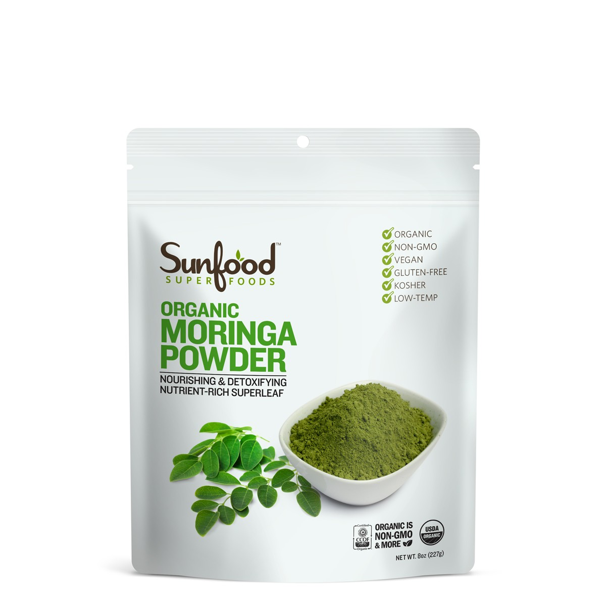 Raw organic moringa powder Sunfood 227g