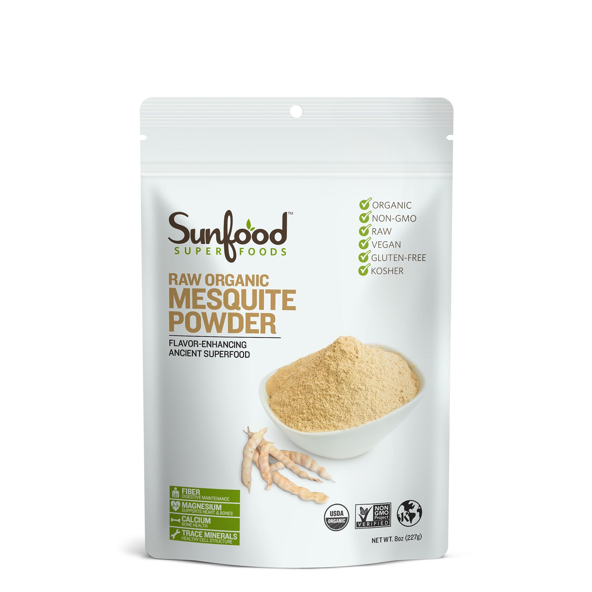 Bột mesquite raw organic Sunfood 227g