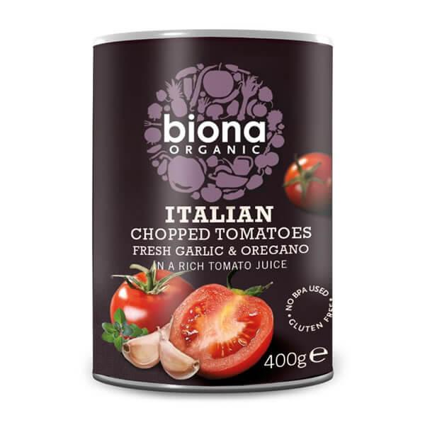 Cà chua cắt nhỏ kiểu Ý organic Biona 400g