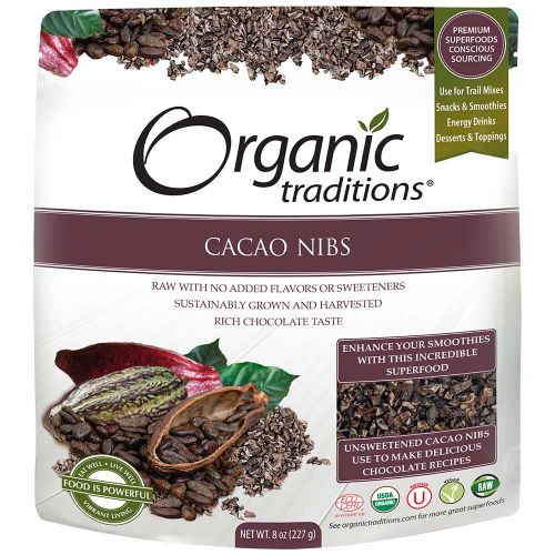 Cacao ngòi nibs organic OrganicTraditions 227g