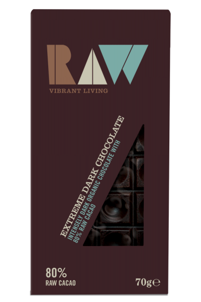 Chocolate đen extreme organic Raw 70g