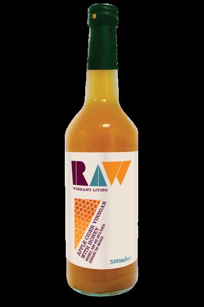 Dấm táo mật ong organic Raw 500ml
