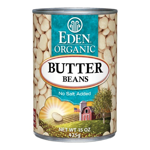 Organic butter bean canned Eden 425g