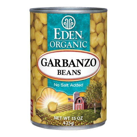 Organic garbanzo beans canned Eden 425g