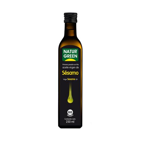 Dầu hạt mè ép lạnh organic Naturgreen 250ml