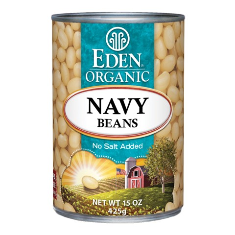 Organic navy bean canned Eden 425g