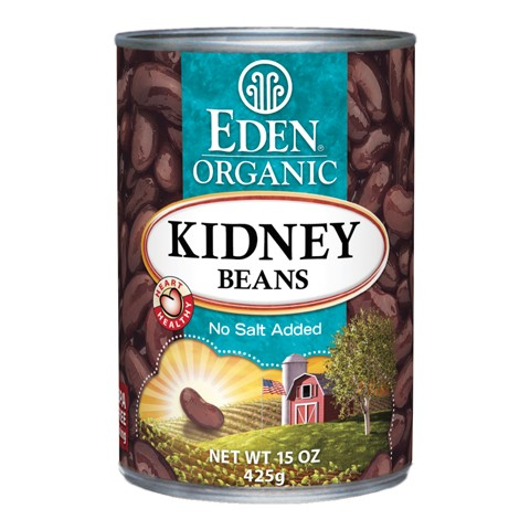 Organic kidney bean canned Eden 425g