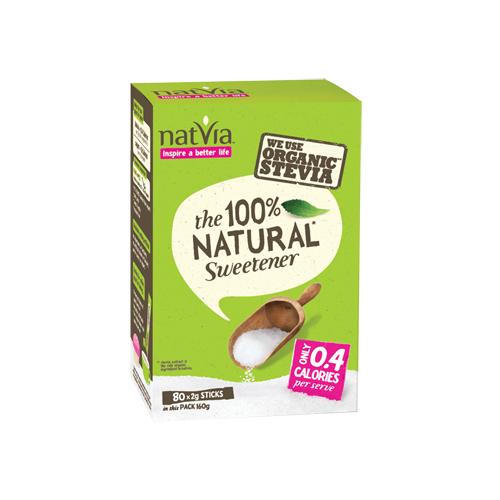 Đường cỏ ngọt stevia tự nhiên Natvia 80g
