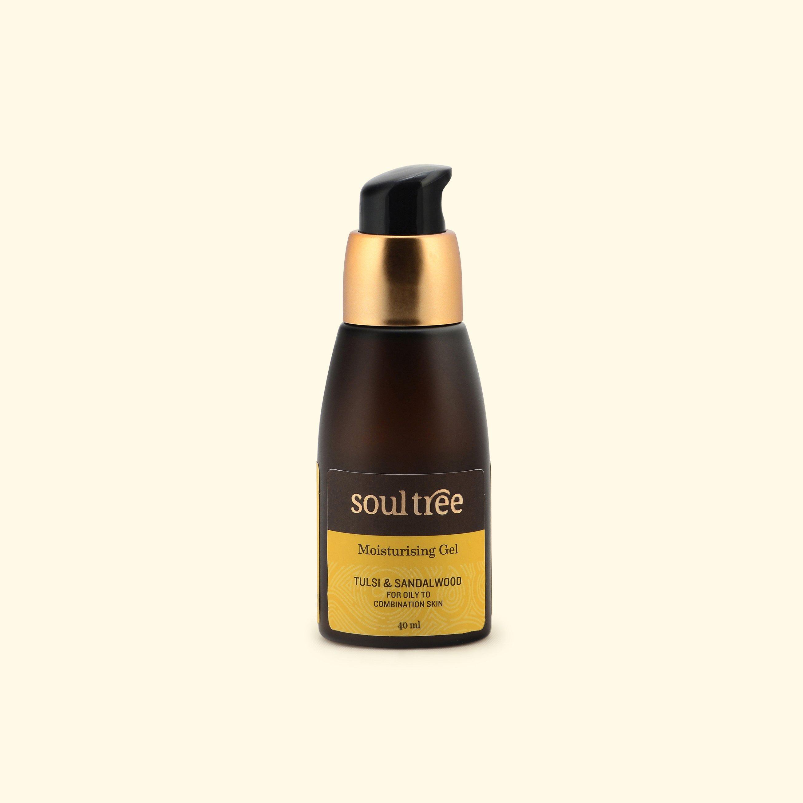 Gel dưỡng ẩm dành cho da mụn hương nhu tulsi & đàn hương Soultree 40ml