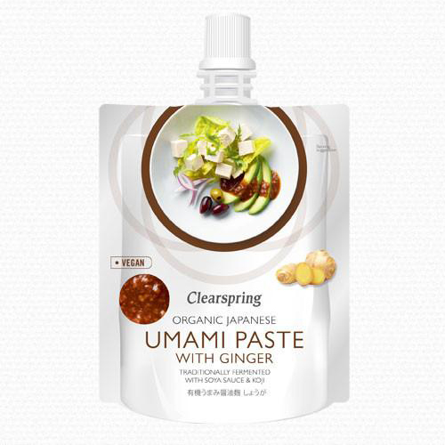 Organic Japanese umami paste with ginger Clearspring 150g