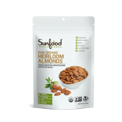 Hạt hạnh nhân bò raw organic Sunfood 227g
