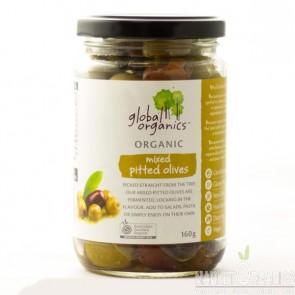 Hỗn hợp quả pitted olive không hạt Global Organics 160g
