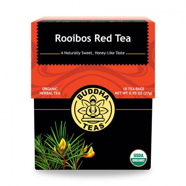 Hồng trà Nam Phi rooibos organic BuddhaTeas 27g/ 18 gói