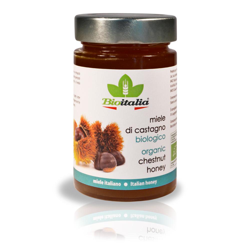 Mật ong hạt dẻ organic Bioitalia 250g