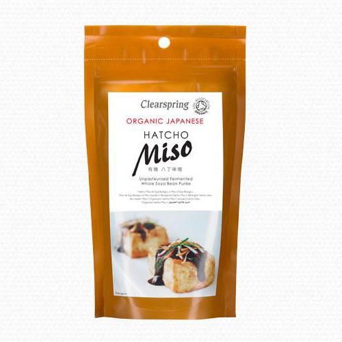 Miso đậu nành hatcho organic Clearspring 300g
