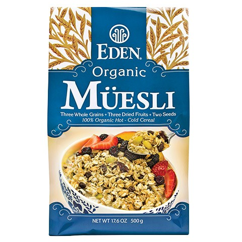 Ngũ cốc ăn sáng muesli organic Eden 500g