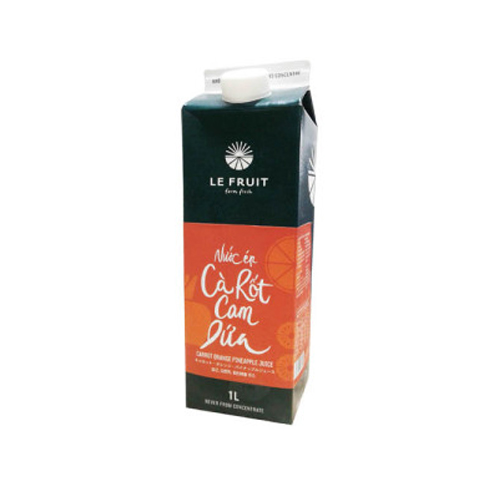Nước ép cà rốt cam dứa Lefruit 1L