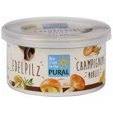 Pate chay nấm noble hữu cơ Pural 125g