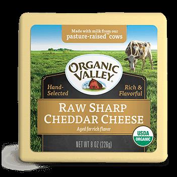 Phô mai tách béo sharp cheddar OrganicValley 227g