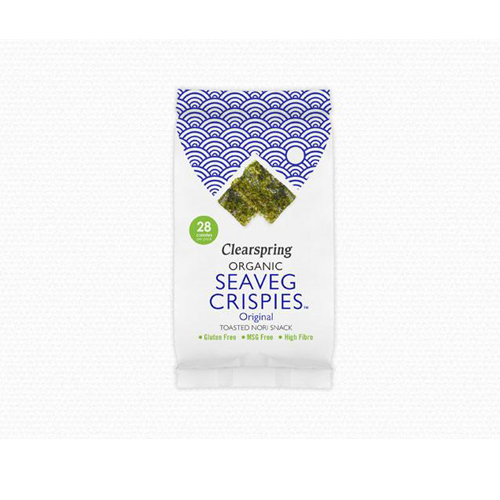 Snack rong biển sấy organic Clearspring 5g