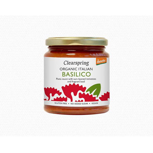 Sốt mì Ý basilico organic Clearspring 300g