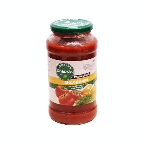 Sốt mì Ý bolognese organic Jensen 580g