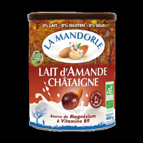 Bột sữa hạnh nhân hạt dẻ organic La Mandorle 400g