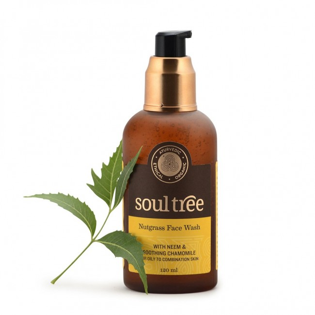 Sữa rửa mặt thiên nhiên neem nutgrass Soultree 120ml