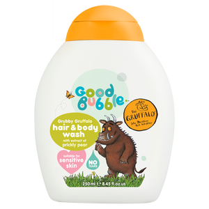 Natural hair & body wash with prickly pear extract GoodBubble 250ml