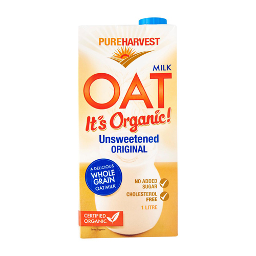 Sữa yến mạch không đường organic Pureharvest 1L