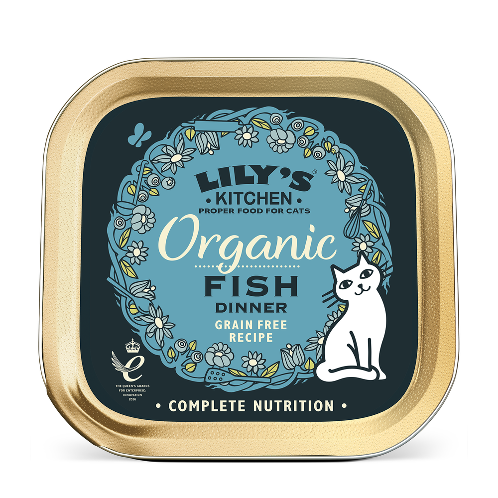 Thực phẩm dành cho mèo vị cá Organic Fish Dinner Lily\\\\\\\'s Kitchen 85g