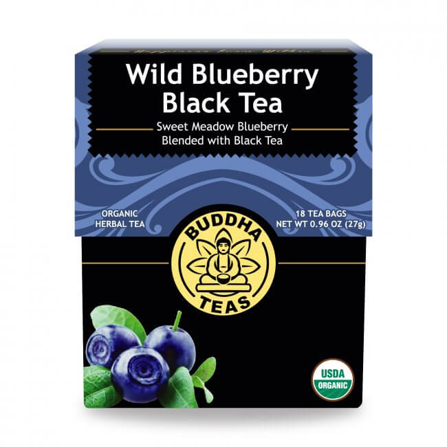 Organic wild blueberry black tea buddha Tea 27g/ 18 bags