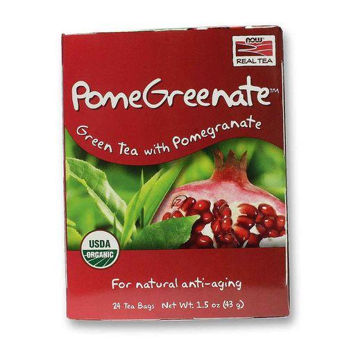 Trà xanh lựu đỏ organic Nowfoods 43g/ 24 gói