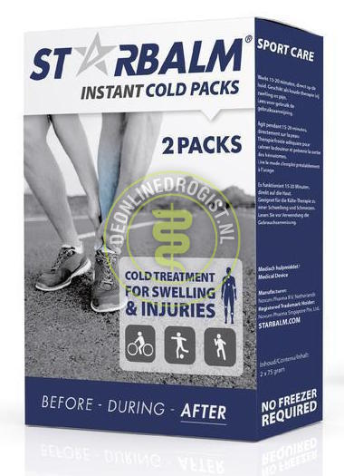 Instant cold pack for muscle injury StarBalm 2pcs/ box